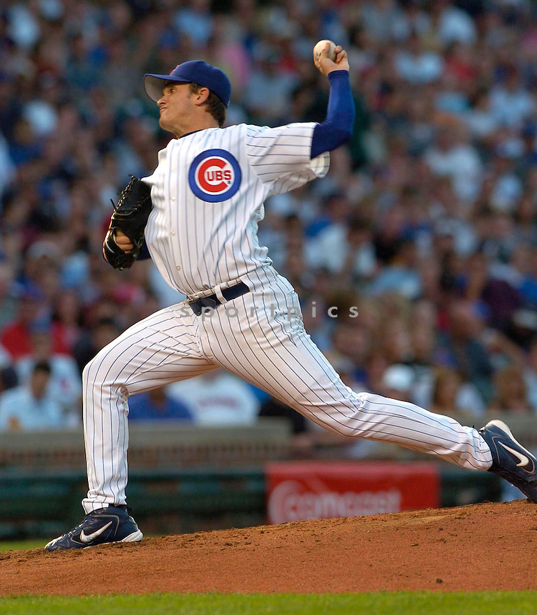 John Koronka of the Chicago Cubs in action against the Florida Marlins. ....Cubs lost 1-9.....David Durochik / SportPics..