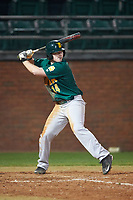 Siena Saints designated hitter Brian Kelly (14) at bat during a game against the Stetson Hatters on February 23, 2016 at Melching Field at Conrad Park in DeLand, Florida.  Stetson defeated Siena 5-3.  (Mike Janes/Four Seam Images)