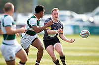 Gearoid Lyons of Nottingham passes the ball. Greene King IPA Championship match, between Ealing Trailfinders and Nottingham on March 30, 2019 at the Trailfinders Sports Ground in London, England. Photo by: Patrick Khachfe / Onside Images
