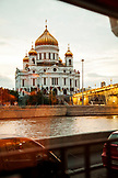 RUSSIA, Moscow. View of the Cathedral of Christ the Saviour.