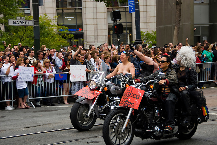 California: San Francisco. Annual Gay Pride Parade on Market Street. Photo copyright Lee Foster. Photo # 27-casanf82062