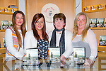 DVD: Helping out at the Jimmy McCarthy Fenit Spa-Fenit a Journey Through Time at Siamsa Tire on Sunday evening, l-r: Kirsty McCarthy, Mary O'Leary, Trisha Cunningham and Niamh O'Carroll.