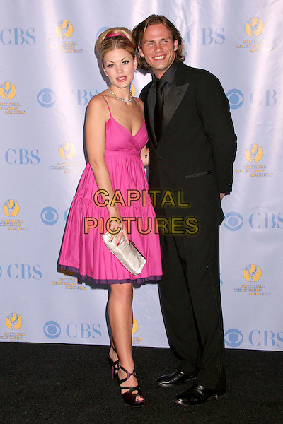 BREE WILLIAMSON & FORBES MARCH.34th Annual Daytime Emmy Awards - Press Room at the Kodak Theatre, Hollywood, California, USA, 15th June 2007..full length pink dress.CAP/ADM/BP.©Byron Purvis/AdMedia/Capital Pictures.