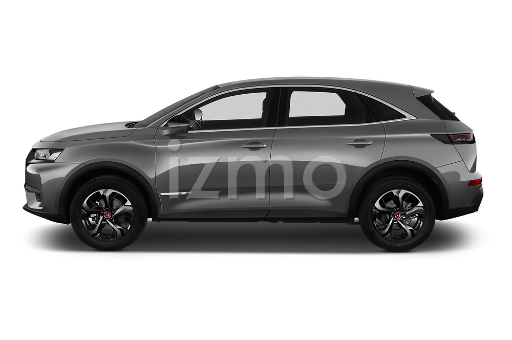 Car Driver side profile view of a 2019 Ds DS-7-Crossback Performance-Line 5 Door SUV Side View