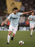 Calcio, Serie A: S.S. Lazio - A.S. Roma, stadio Olimpico, Roma, 15 aprile 2018. <br /> during the Italian Serie A football match between S.S. Lazio and A.S. Roma at Rome's Olympic stadium, Rome on April 15, 2018.<br /> UPDATE IMAGES PRESS/Isabella Bonotto