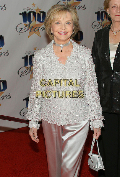FLORENCE HENDERSON.19th Annual Night of 100 Stars Gala Celebrating the 81st Annual Awards held at the Beverly Hils Hotel, Beverly Hills, California, USA..February 22nd, 2009.half length silver grey gray embossed pattern embroidered jacket .CAP/ADM/TC.©T. Conrad/AdMedia/Capital Pictures.
