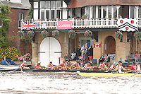 Henley, Great Britain.  St Paul's, Concord. USA Challenge Cup, at  Henley Royal Regatta. Henley Reach, England 04.07.2007 [Mandatory credit Peter Spurrier/ Intersport Images]. Rowing Courses, Henley Reach, Henley, ENGLAND . HRR. ...........Rowing Courses, Henley Reach, Henley, ENGLAND. HRR