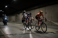 tunnel action by eventual winner Chantal Blaak (NED/Boels-Dolmans)<br /> <br /> Women Elite Road Race<br /> <br /> UCI 2017 Road World Championships - Bergen/Norway