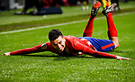 Angel Correa of Atletico de Madrid celebrates after scoring his goal during the La Liga 2017-18 match between Atletico de Madrid and Valencia CF at Wanda Metropolitano on February 04 2018 in Madrid, Spain. Photo by Diego Souto / Power Sport Images
