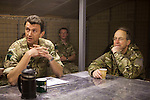 Mcc0027461 . Daily Telegraph..Chief of Defence Staff General David Richards(right) talking with the 3 Para Battlegroup's commander Lt Col James Coates(left) during his visit to FOB Shazad today in the northern Nad e Ali district of Helmand Province...Helmand 28 November 2010