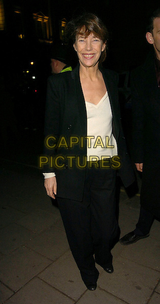 JANE BIRKIN.At the American & British Vogue London Fashion Week Cocktail Party, Luciano 72 St James's Street, London, Februaryu 17th 2006..full length black.Ref: CAN.www.capitalpictures.com.sales@capitalpictures.com.©Capital Pictures