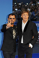 LONDON, ENGLAND - SEPTEMBER 15: Ringo Starr and Sir Paul McCartney attending the 'The Beatles: Eight Days A Week - The Touring Years'  World Premiere at Odeon Cinema, Leicester Square on September 15, 2016 in London, England.<br /> CAP/MAR<br /> &copy;MAR/Capital Pictures /MediaPunch ***NORTH AND SOUTH AMERICAS ONLY***
