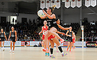 07.02.2017 Gina Crampton in action during the Wales v Silver Ferns netball test match at Swansea University at Ice Arena Wales. Mandatory Photo Credit ©Ian Cook/Michael Bradley Photography.