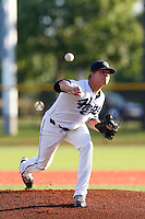 Ben Eckels #10 of the Hillsboro Hops pitches against the Spokane Indians at Hillsboro Ballpark on July 22, 2013 in Hillsboro Oregon. Spokane defeated Hillsboro, 11-3. (Larry Goren/Four Seam Images)