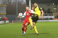 Fleetwood Town's Lewis Coyle in action with Burton Albion's Colin Daniel <br /> <br /> Photographer Mick Walker/CameraSport<br /> <br /> The EFL Sky Bet League One - Burton Albion v Fleetwood Town - Saturday 11th January 2020 - Pirelli Stadium - Burton upon Trent<br /> <br /> World Copyright © 2020 CameraSport. All rights reserved. 43 Linden Ave. Countesthorpe. Leicester. England. LE8 5PG - Tel: +44 (0) 116 277 4147 - admin@camerasport.com - www.camerasport.com