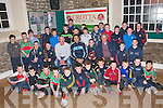 Medal Presentation: Members of the Crotta/O'Neill's U/11 team that won the North Kerry Championship and the U/12 team that won the County championship who were presented with their medals by Cork hurler Sean Og O'Halpin at the St Colombas centre in Kilflynn on Saturday evening last.