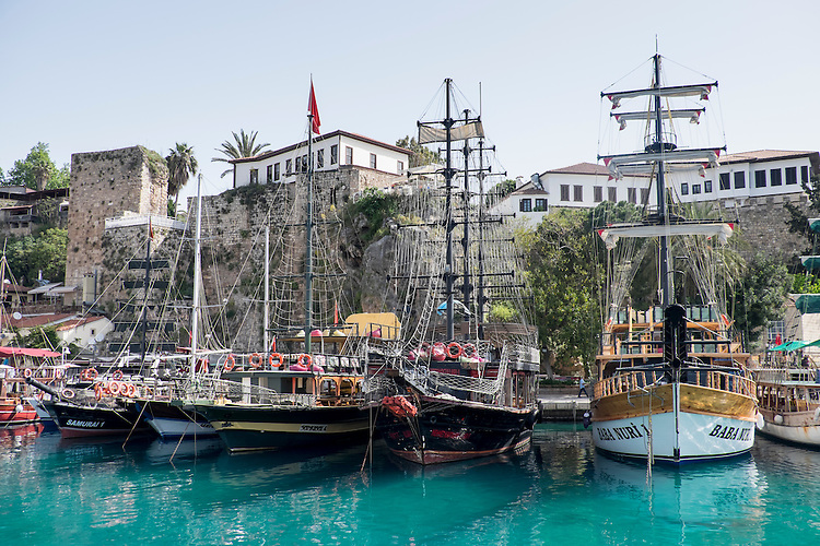 Antalya's Roman harbor beckons visitors to sail the seas on the turquoise water.