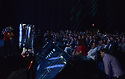 MIAMI BEACH, FL - APRIL 24: Atmosphere of robot onstage during eMerge Americas 2018 -day2 during Keynote: Do Robots Need To Look Like Humans? at Miami Beach Convention Center on April 24, 2018 in Miami Beach, Florida.  ( Photo by Johnny Louis / jlnphotography.com )