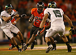OSU RB, 24 Ryan McCants, runs the ball during the Civil War at Reser Stadium in Corvallis, November 29, 2008.