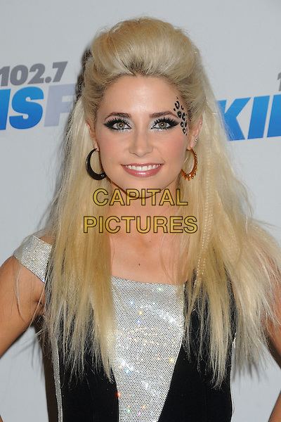 CeCe Frey.attends the 102.7 KIIS FM'S Jingle Ball 2012 held at The Nokia Theater Live in Los Angeles, California, USA,.December 1st 2012..portrait headshot leopard face paint make-up animal black hoop earrings silver beauty smiling .CAP/ADM/BP.©Byron Purvis/AdMedia/Capital Pictures.