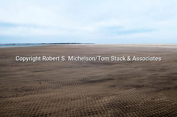 Sand ripples, wide shot, South Beach, Chatham, Massachusetts