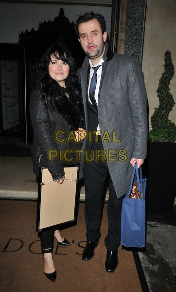 Louise Burton and Daniel Mays at the Radio Times Covers Party, Claridge's Hotel, Brook Street, London, England, UK, on Tuesday 31 January 2017.<br /> CAP/CAN<br /> &copy;CAN/Capital Pictures