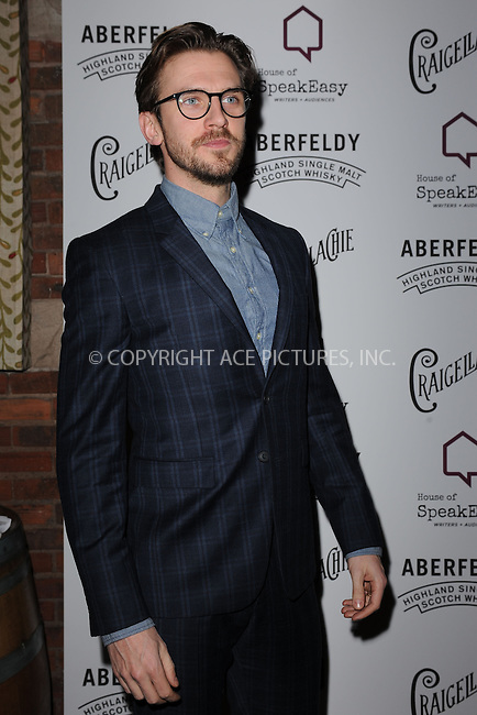 WWW.ACEPIXS.COM<br /> January 28, 2015 New York City<br /> <br /> Dan Stevens attending the 2015 House Of SpeakEasy Gala at City Winery on January 28, 2015 in New York City.<br /> <br /> Please byline: Kristin Callahan/AcePictures<br /> <br /> ACEPIXS.COM<br /> <br /> Tel: (646) 769 0430<br /> e-mail: info@acepixs.com<br /> web: http://www.acepixs.com