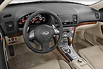 High angle dashboard view of a 2008 Subaru Legacy GT sedan