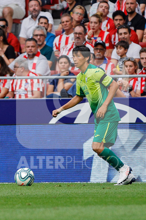 Takashi Inui of SD Eibar in action during La Liga match between Atletico de Madrid and SD Eibar at Wanda Metropolitano Stadium in Madrid, Spain.September 01, 2019. (ALTERPHOTOS/A. Perez Meca)