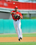 10 March 2012: Washington Nationals' shortstop Ian Desmond in action against the New York Mets at Space Coast Stadium in Viera, Florida. The Nationals defeated the Mets 8-2 in Grapefruit League play. Mandatory Credit: Ed Wolfstein Photo
