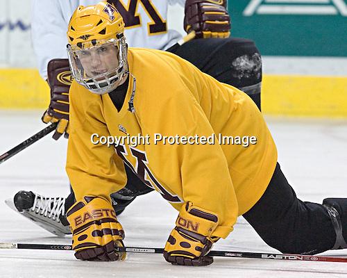 Ryan Potulny - The University of Minnesota Golden Gophers took part in their morning skate at Ralph Engelstad Arena in Grand Forks, North Dakota, on Saturday, December 10, 2005.