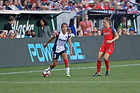 Portland, OR - Saturday July 22, 2017: Caprice Dydasco, Ashleigh Sykes during a regular season National Women's Soccer League (NWSL) match between the Portland Thorns FC and the Washington Spirit at Providence Park.