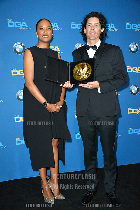 Aisha Tyler &amp; Brian Smith at the 70th Annual Directors Guild Awards at the Beverly Hilton Hotel, Beverly Hills, USA 03 Feb. 2018<br /> Picture: Paul Smith/Featureflash/SilverHub 0208 004 5359 sales@silverhubmedia.com