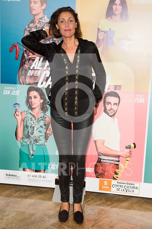 "Maria Barranco attends the Premiere of the Theater Play ""Al Final de la carretera"" at Fenan Gomez Theatre in Madrid, Spain. October 7, 2014. (ALTERPHOTOS/Carlos Dafonte)"