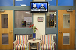 November 15, 2011. Mooresville, NC.. Morning announcements  at the East Mooresville Intermediate School, for grades 4-6, are read by students and broadcast onto screens around the school.. The Mooresville school system has become nationally known for being on the cutting edge of using technology as an educational tool. Starting in 3rd grade, each student is issued their own laptop that they will use in class and at home to further their learning.