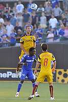 Chris Wingert (yellow), Kei Kamara...Kansas City Wizards and Real Salt Lake played to a 1-1 tie at Community America Ballpark, Kansas City, Kansas.
