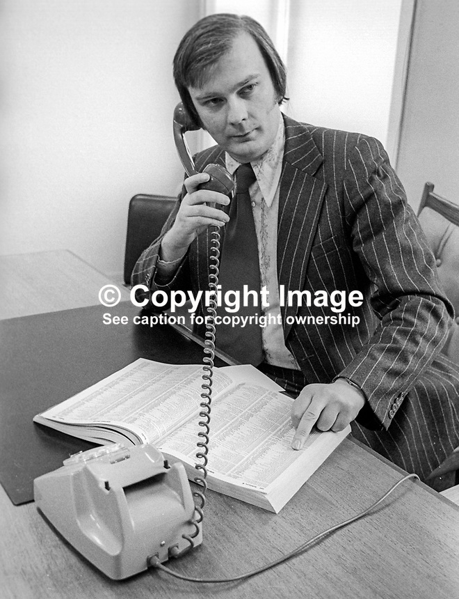 John Laird, Ulster Unionist politician, Belfast, N Ireland, photographed at Ulster Unionist Party headquarters, Glengall Street, Belfast. 197602000165JL<br /> <br /> Copyright Image from Victor Patterson, 54 Dorchester Park, Belfast, UK, BT9 6RJ<br /> <br /> Tel: +44 28 9066 1296<br /> Mob: +44 7802 353836<br /> Voicemail +44 20 8816 7153<br /> Email: victorpatterson@me.com<br /> Email: victorpatterson@gmail.com<br /> <br /> IMPORTANT: My Terms and Conditions of Business are at www.victorpatterson.com