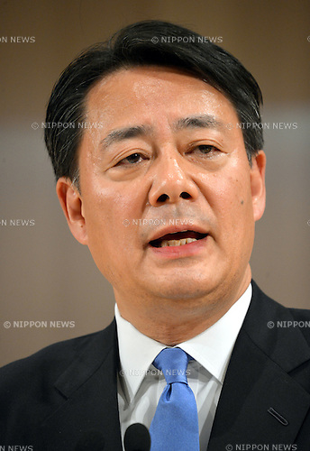 December 25, 2012, Tokyo, Japan - Japan's former Trade Minister Banri Kaieda answers questions during his first news conference after being elected new leader of the Democratic Party of Japan in Tokyo on Tuesday, December 25, 2012. Kaieda beat former transport minister Sumio Mabuchi in the two-man race voted by 145 DPJ lawmakers to replace outgoing Prime Minister Yoshihiko Noda who stepped down taking responsibility for the DPJ's crushing defeat in the general election earlier this month.  (Photo by Natsuki Sakai/AFLO)