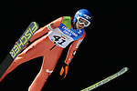 Krzystsztof Biegun (POL) competes during the Normal Hill Ski Jumping event as part of the Winter Universiade Trentino 2013 in Predazzo.<br /> <br /> &copy; Pierre Teyssot