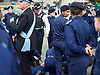 Celebration of record number of young volunteer Police cadets in London aged 10-19 at a ceremony in Trafalgar Square, London, Great Britain 3rd August 2015 <br />  <br /> The Mayor of London Boris Johnson and the Metropolitan Chief Police Commissioner Sir Bernard Hogan-Howe made speeches and met some of the volunteers. <br /> <br /> One of the cadets collapsed during the parade<br /> <br /> Photograph by Elliott Franks <br /> Image licensed to Elliott Franks Photography Services
