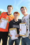 Conor Murtagh, Stephen Nally and Craig McCormack with there Leaving cert result..Picture Fran Caffrey www.newsfile.ie