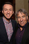 Andrew Lippa and Stephen Schwartz attends the DGF Salon with Stephen Schwartz at the Uterberg Residence on May 1, 2017 in New York City.