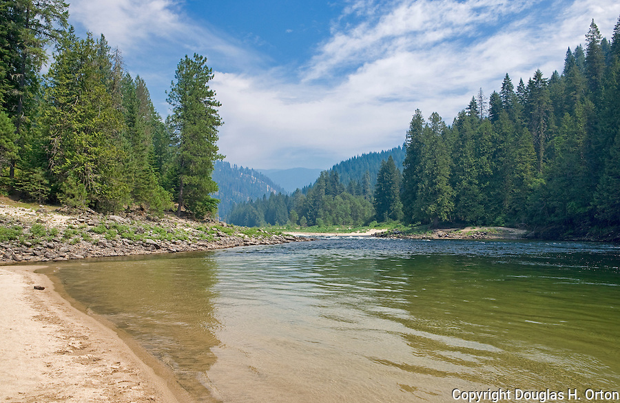 The Selway River, a tributary of the Clearwater, the Snake and the Columbia Rivers