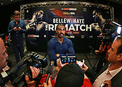 4th October 2017, Park Plaza, London, England; Tony Bellew versus David Haye, The Rematch, Press Conference; David Haye being interviewed by the media during the press conference