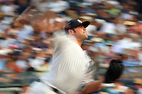 08/09/10 Bronx, NY: New York Yankees relief pitcher Joba Chamberlain #62 during an MLB game between the New York Yankees and the Boston Red Sox played at Yankee Stadium where the Red Sox defeated the Yankees 2-1.