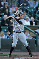 Scranton Wilkes-Barre Yankees third baseman Brandon Laird #10 at bat during a game against the Rochester Red Wings at Frontier Field on April 9, 2011 in Rochester, New York.  Rochester defeated Scranton 7-6 in twelve innings.  Photo By Mike Janes/Four Seam Images