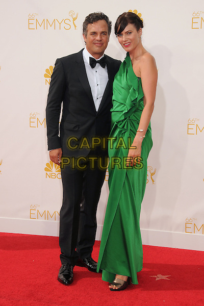 25 August 2014 - Los Angeles, California - Mark Ruffalo, Sunrise Coigney. 66th Annual Primetime Emmy Awards - Arrivals held at Nokia Theatre LA Live. <br /> CAP/ADM/BP<br /> &copy;BP/ADM/Capital Pictures