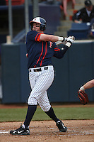 February 22 2009: Jared Clark of the CSUF Titans during game against the TCU Horned Frogs at Goodwin Field in Fullerton,CA.  Photo by Larry Goren/Four Seam Images
