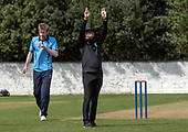 Issued by Cricket Scotland - Tilney Regional Series - Knights V Warriors - Grange CC - another six - picture by Donald MacLeod - 28.04.19 - 07702 319 738 - clanmacleod@btinternet.com - www.donald-macleod.com