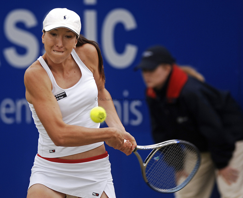 Photo: Glyn Thomas..DFS Classic Tennis final..Edgbaston Priory Club, Birmingham. 12/06/2005...Jelena Jankovic is deafeated by Maria Sharapova in three sets in the final at Birmingham.